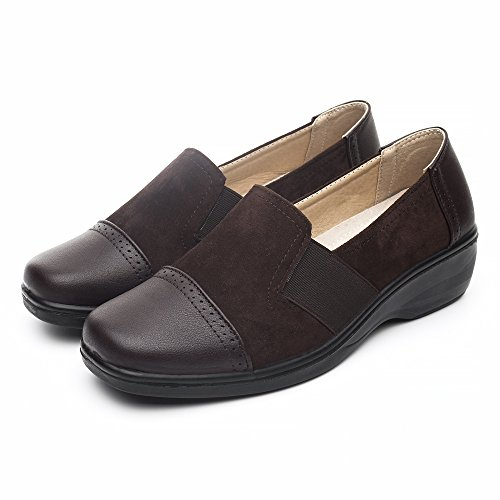 Loafer Slip Flat Comfort Brown931 Shoe Women's On DRKA Casual PqEI6