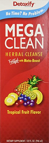 Mega Clean Natural Tropical Flavor - Ultimate In Herbal Cleansing, 1 liter