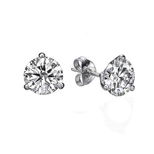(1Carat D-F VVS-VS Diamond Stud Earrings CertifiedLab Grown Set in 14k)