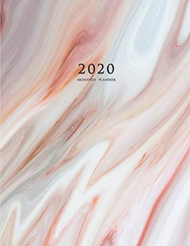2020 Monthly Planner: 2020 Planner Monthly 8.5 x 11 with Marble Cover (Volume 3)