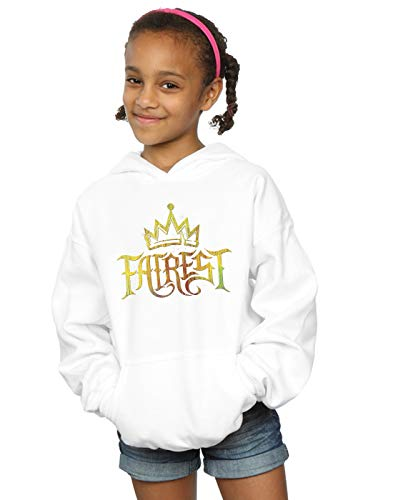 Disney Girls The Descendants Fairest Gold Hoodie White 7-8 Years by Absolute Cult