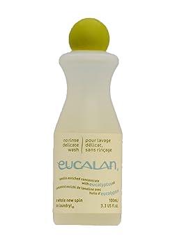 Eucalan 666884100382 pflegendes Feinwaschmittel, Eykalyptus, 100 ml für Handwäsche
