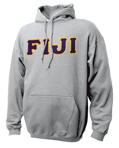 Greek Sewn On Letters - Fiji Hoodie With Sewn On Letters