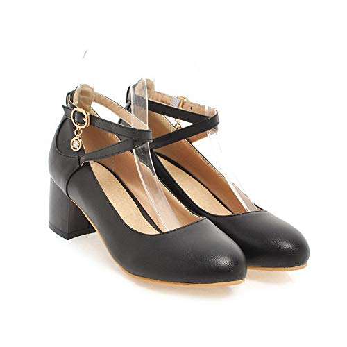 Ballroom APL10540 Shoes Urethane Casual Womens Solid Black Pumps Dance BalaMasa E0pq8n