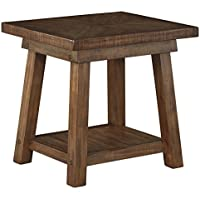 Signature Design by Ashley T863-3 Dondie Rectangular End Table, Weathered Brown