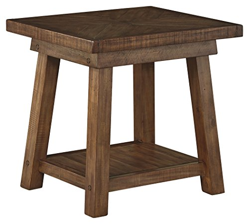 Signature Design by Ashley T863-3 Dondie Rectangular End Table, Weathered Brown by Signature Design by Ashley