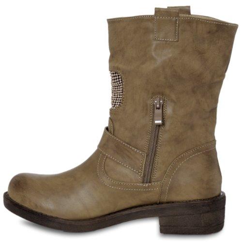 Fashion Women's Boots CASPAR CASPAR Fashion Kaki Boots Kaki Fashion Fashion Kaki CASPAR Women's Boots Women's CASPAR UwYAqUx