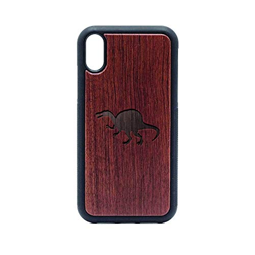 Spinosaurus Silhouette - iPhone XR CASE - Rosewood Premium Slim & Lightweight Traveler Wooden Protective Phone CASE - Unique, Stylish & ECO-Friendly - Designed for iPhone XR