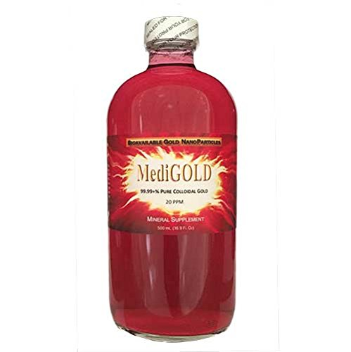 MediGOLD (20 ppm True Colloidal Gold) - 500 mL Glass by Nutraneering
