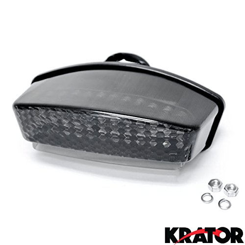 Price comparison product image Krator® 1994-2008 Ducati Monster LED TailLights Brake Tail Lights with Integrated Turn Signals Indicators Smoke Motorcycle - Dark, ie, S, Capirex, Cromo, Dark City and More!