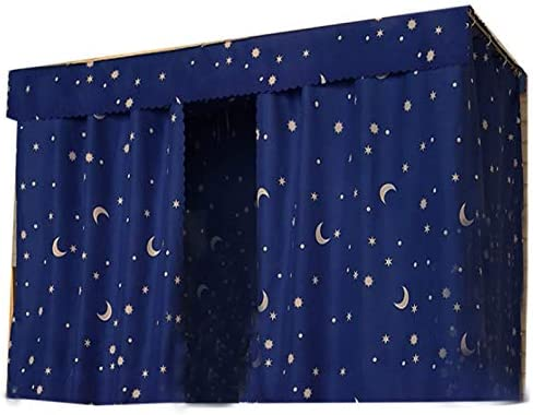 Minetom Bunk Bed Curtains Blackout Shading Cloth Panel for Top or Bottom Single Bed Home College Dorm Girl and Boy Students, 1.5m x 2 m 2Panel 1TOP