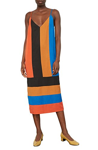 - Mara Hoffman Women's Tallulah Spaghetti Strap Midi Dress, Domino Colorblock Blue/Multi, X-Small