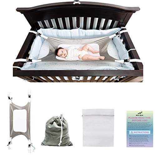 Baby Hammock for Crib - Safe Comfy Bed for Newborn, Mimics Womb in Bassinet with 3X Breathable Mesh Helping Infant