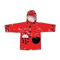 Kidorable Ladybug Rain Coat and Umbrella Set (2T)