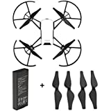Rucan For DJI Tello Quadcopter Drone Intelligent Flight Battery 1100 mAh 3.8V (1PC Battery +4PC Propellers(BK))