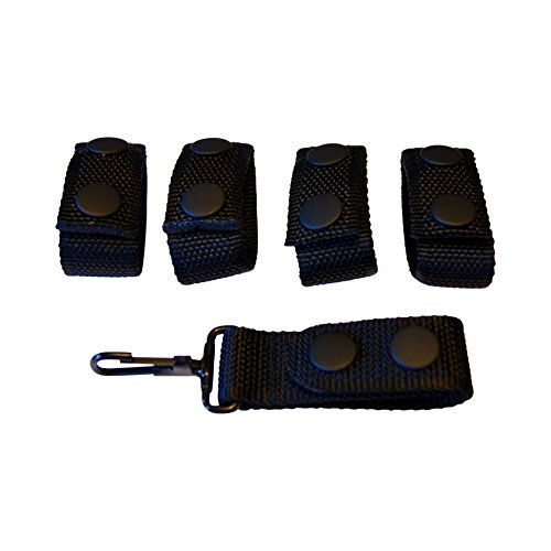 4 Pack Belt Keepers + 1 Keeper With Metal Key Clip For 2 - 2.25