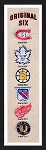 Winning Streak Original 6 NHL Teams Framed Heritage Banner 13x36 Inches