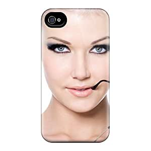 Fashionable Iphone 4/4s Case Cover For Girl Model Sunglasses Protective Case by runtopwell