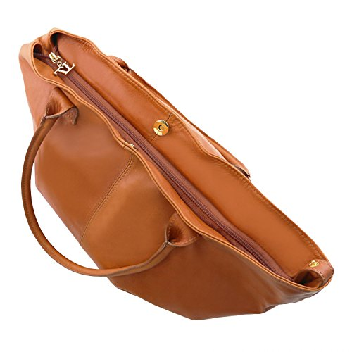 Tuscany Leather TL KeyLuck Borsa donna in pelle Rosso Cognac