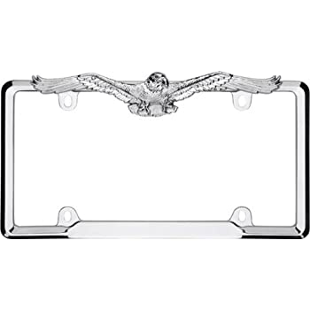 Black DMSE American Eagle Eagles Bird Universal Metal License Plate Frame Cool Decorative Design For Any Vehicle