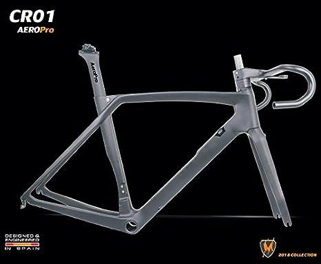 MIRACLE BIKES Cuadro de Carbono CR01 Marieblanc para Bicicleta de Carretera. Talla 54: Amazon.es: Deportes y aire libre