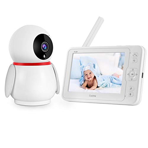 Baby Monitor,1080P 5″ HD Display Video Baby Monitor with Camera and Audio