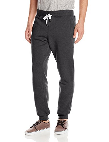 Southpole Men's big-tall Active Basic Jogger Fleece Pants, Heather Charcoal, 3XL