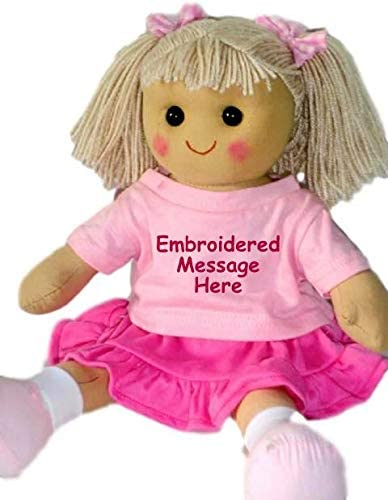 Personalised Large Rag Doll Flower Girl 1st Birthday Christening New Baby  Gift - Easy to Customize: Amazon.co.uk: Baby