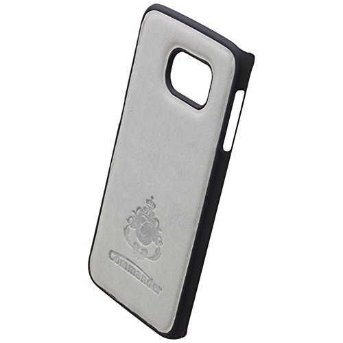 COMMANDER Tasche BOOK CASE Nubuk Gray 2in1 mit Back Cover für Samsung Galaxy S6 Edge SM-G925 Lizenzprodukt + Reinigungstuch iMoBi