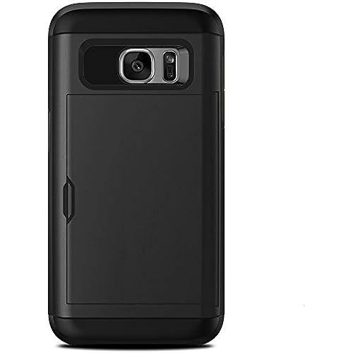 Galaxy S7 Case. Slim Wallet Cover for Samsung Galaxy S7 (Black) Sales