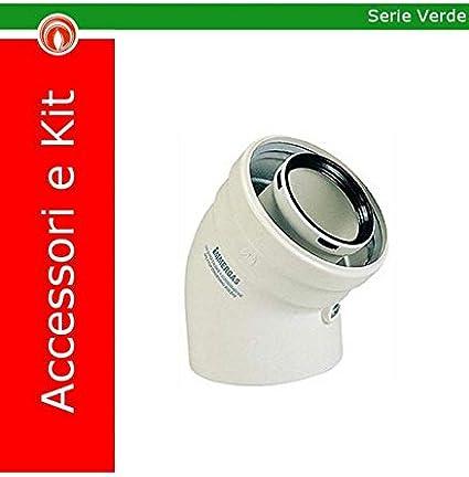 Immergas Kit Codo 45° 3.012095 Gases De Escape Caldera Condensación 60/100