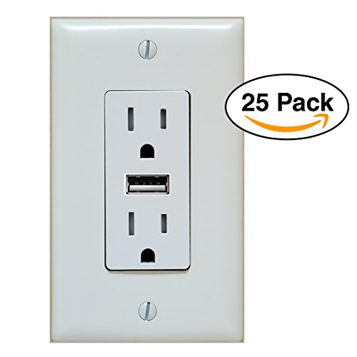25 pack- Fake Outlet PREMIUM Stickers glossy with uv coating Prank - Airport Wall Sockets – including fake USB - Premium Outlet La