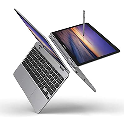 "Samsung Chromebook Plus V2, 2-in-1, Intel Core m3, 4GB RAM, 64GB eMMC, 13MP Camera, Chrome OS, 12.2"", 16:10 Aspect Ratio, Light Titan (XE520QAB-K02US)"