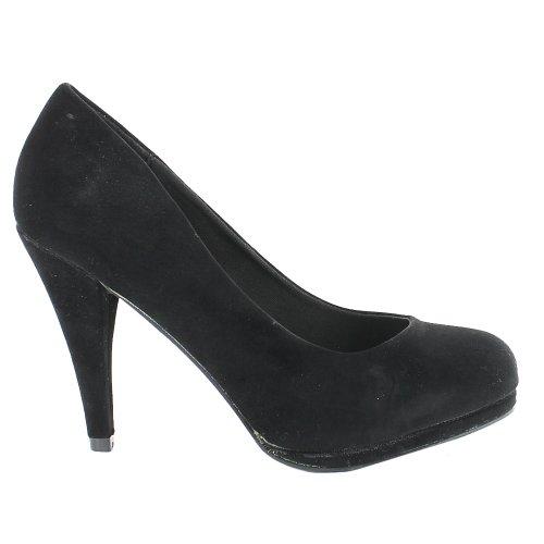 Footwear Sensation - Sandalias de vestir para mujer negro - Black Suede