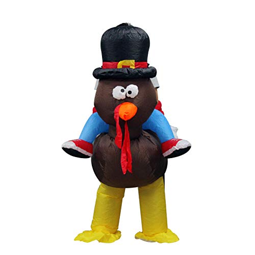 Adult Inflatable Turkey Costume Halloween Carnival Party Fancy Dress Costume - Riding On Turkey Back,Adult]()