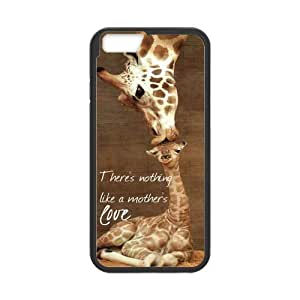 iPhone 6 Protective Case -Giraffe Great Mother's Love Quote Hardshell Cell Phone Cover Case for New iPhone 6