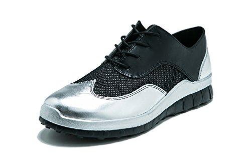 Silver Fashion Men's CCILU Duke Sneaker xgUBRB