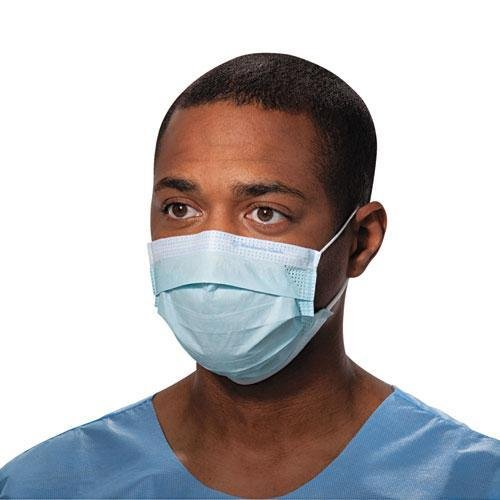 KCC47080 - Procedure Mask, Pleat-style W/ear Loops, Blue
