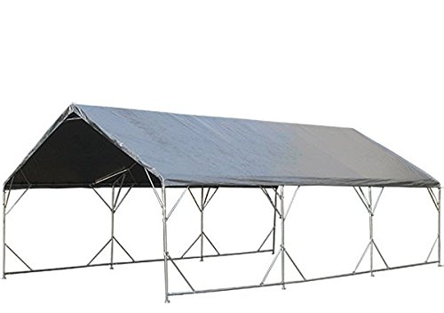14'X40' EXTRA Heavy Duty 12 mil Silver Tarp 3 Ply Coated Reinforced Canopy 6 oz 3 Layer (Includes Tarps Tools and Toys Maintenance Manual) by TMP (Image #1)