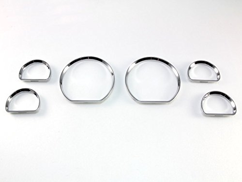 B2 Chrome Dash Gauge Ring Bezel Set for Ford 94-04 Mustang
