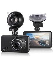 """Smiler+ Dash cam 1080P Full HD 3""""Car Camera, Autokamera 170 DVR Weitwinkel Armaturenbrett Kamera Recorder mit Nachtsicht, G-Sensor, Parkmodus, Bewegungserkennung, Loop-Aufnahme"""