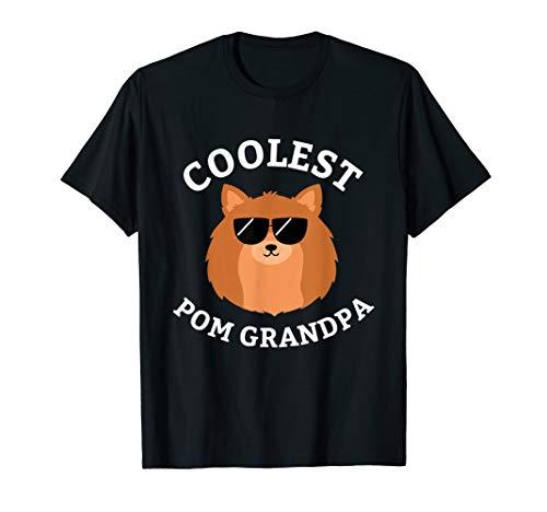 Coolest Pom Grandpa Shirt Pomeranian Dog Lover Tee