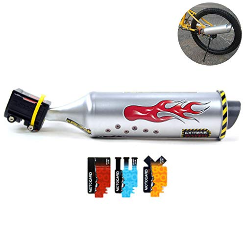 GOBEAUTY Bicycle Exhaust System,Bike Turbo Exhaust Pipe with Sound Effect, Motorcycle Noise Maker, Bike Turbo Pipe Exhaust Funnel System Sound Motorcycle Megaphone ()