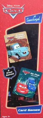 Disney Pixar CARS Card Games - Go Fish & Crazy Eights 2 Pack Card Games