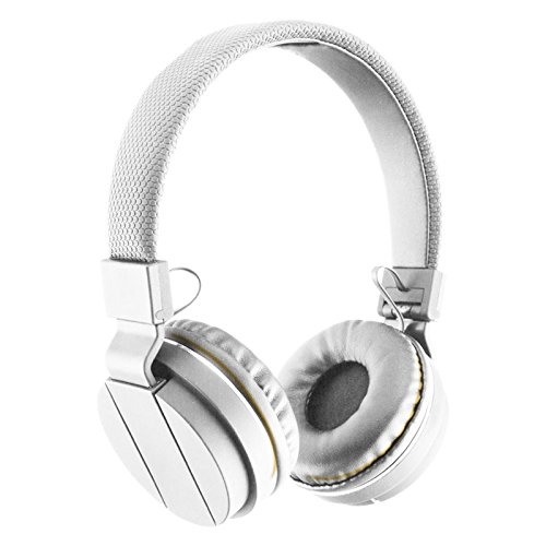 SENTRY BLACK DIAMOND STEREO HEADPHONE HM801 WITH MIC (WHITE) (Sentry Headphones Consumer)