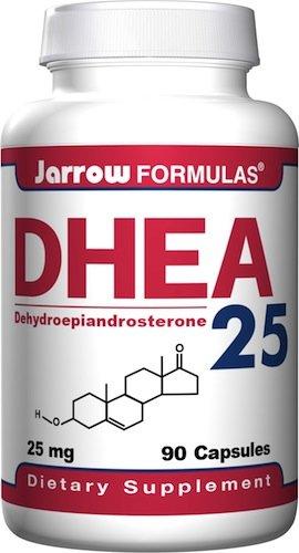 Jarrow Formulas DHEA (déhydroépiandrostérone), 25 mg, 90 gélules (pack de 2)