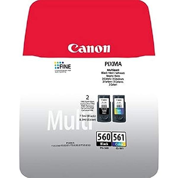 Canon PG-560+CL-561 - Pack con Cartucho de Tinta Original ...