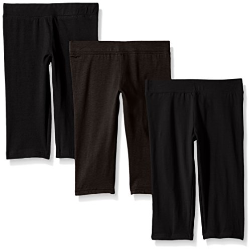 Clementine Apparel Girls Soft Lightweight Stretchy Capri Pant Leggings Pack of 3