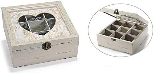 Caja Té, caja porta Especias de madera, caja porta infusiones de ...
