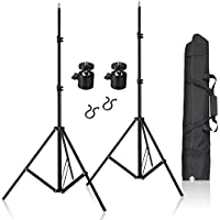 Selens 2 Pcs 80 Inch Adjustable Aluminium Alloy Stands With 1/4 Mount Ball Head and Carrying Bag For VIVE VR